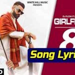 girlfriend punjabi song lyrics