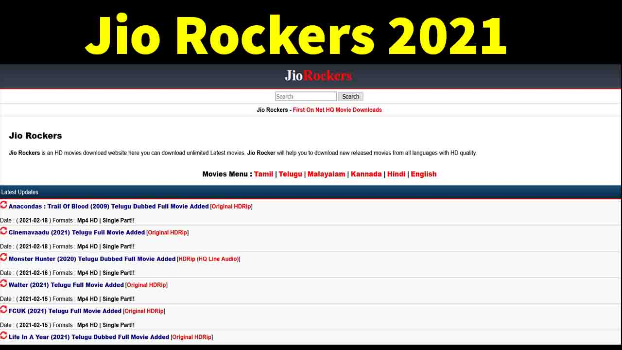 jio rockers telugu movies