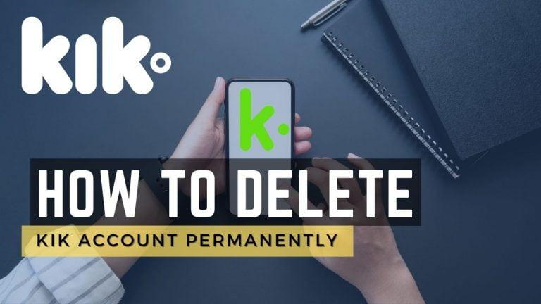 how to delete kik account permanently 2021