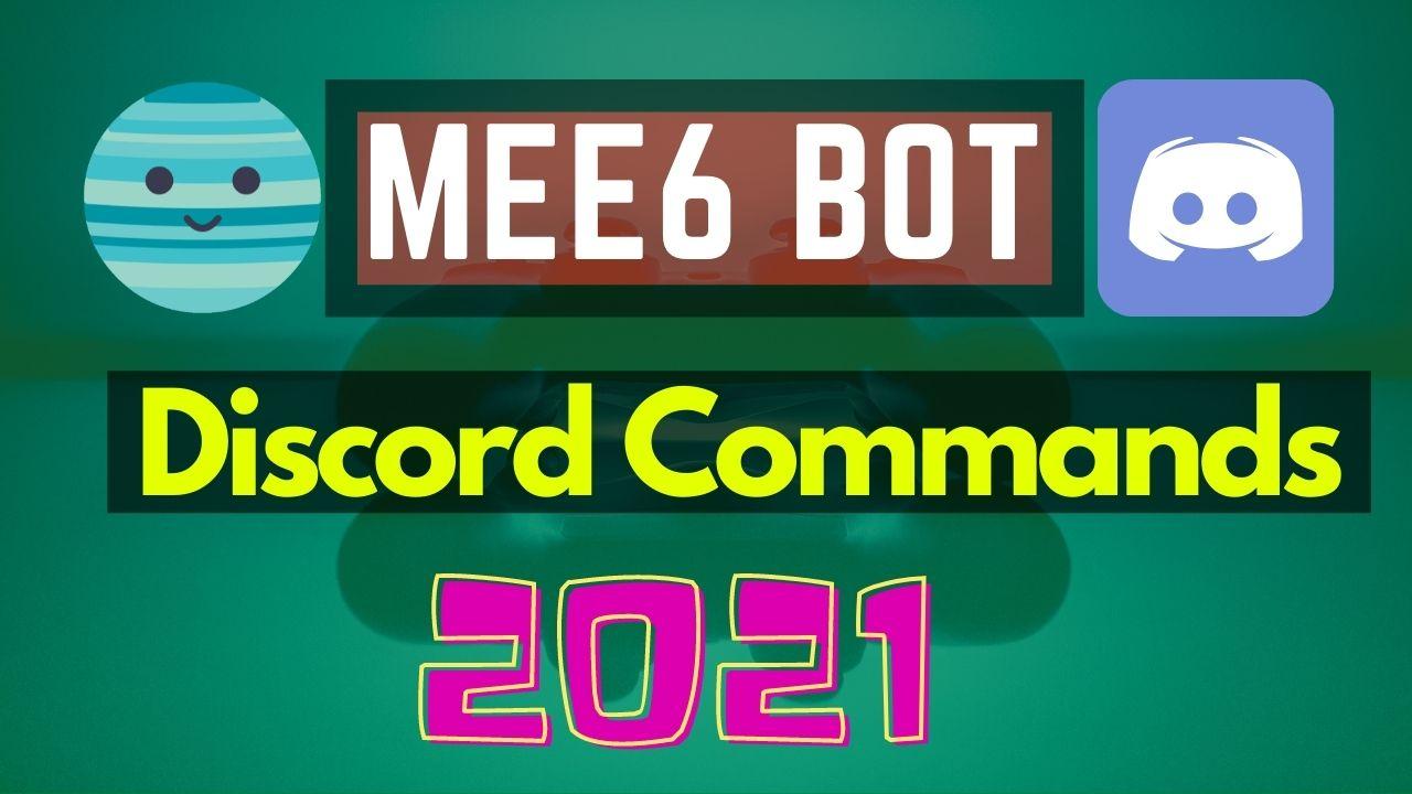 mee6 commands list