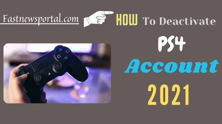 deactivate PS4 Account without system
