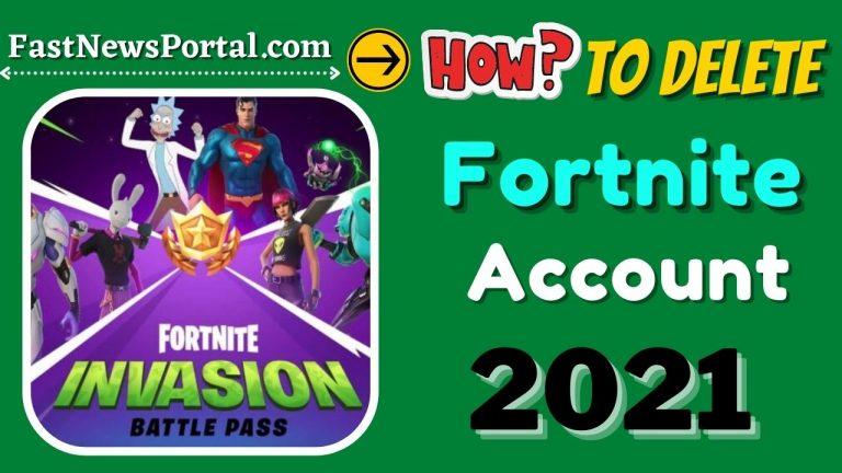 Delete-Fortnite-Account
