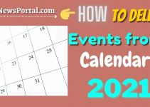 How to delete Events from Calendar 2021