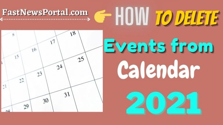 Delete Events From Calendar