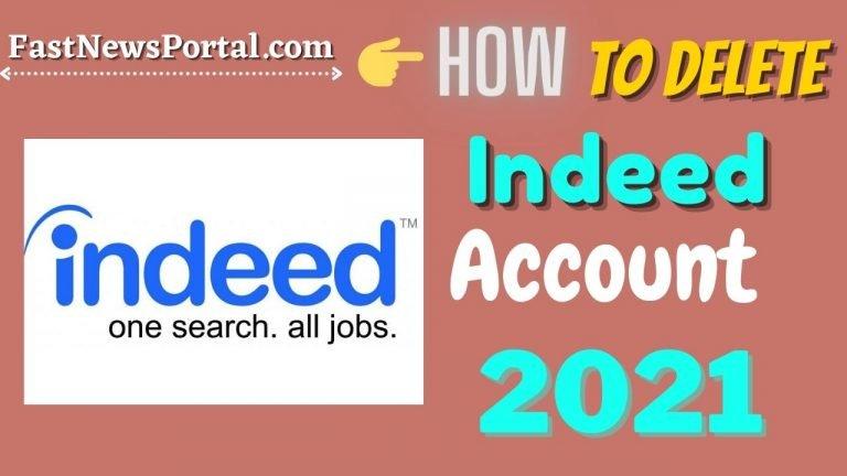 Delete Indeed Account