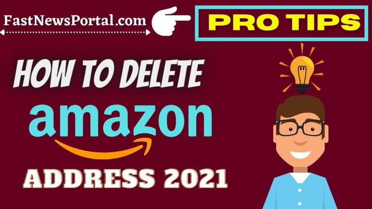 how to delete amazon addresses