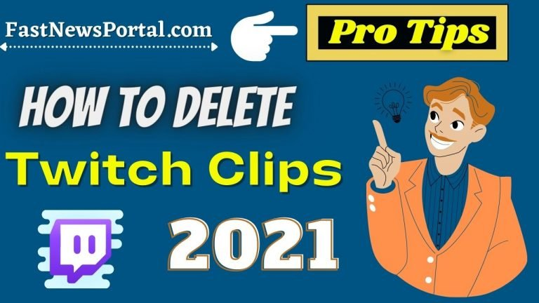 How to delete twitch clips 2021