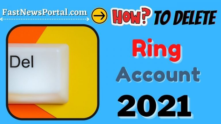 how to delete ring account 2021