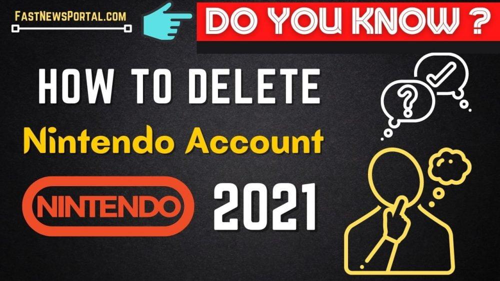 how to delete nintendo account 2021