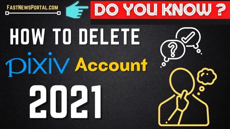How to delete Pixiv account permanently 2021