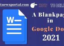 How to delete a blank page in Google Docs?