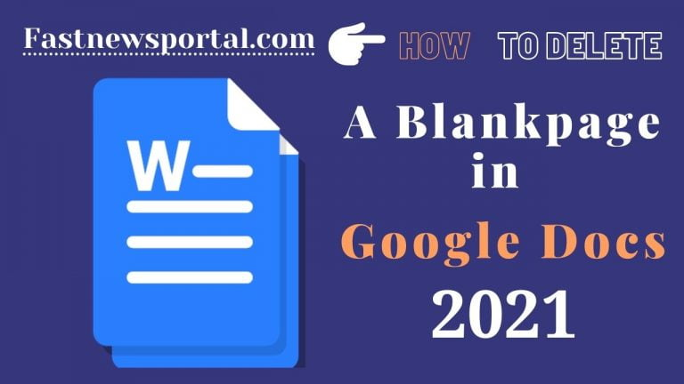 Delete A Blank Page in Google Docs