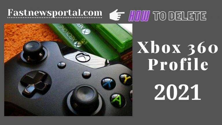 delete xbox 360 profile