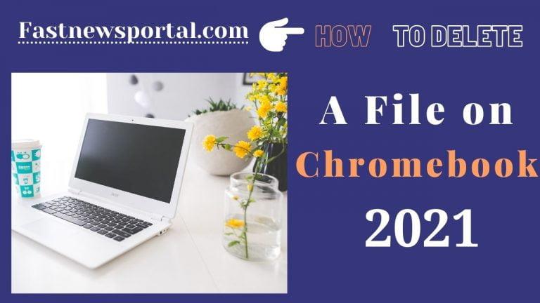 Delete A File On Chromebook
