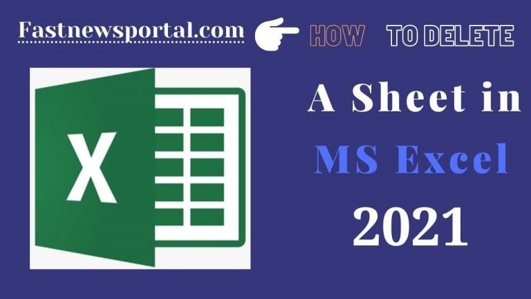 delete A Sheet in Excel