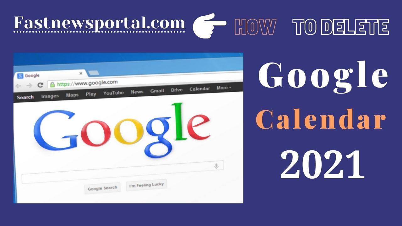 delete a Google Calendar