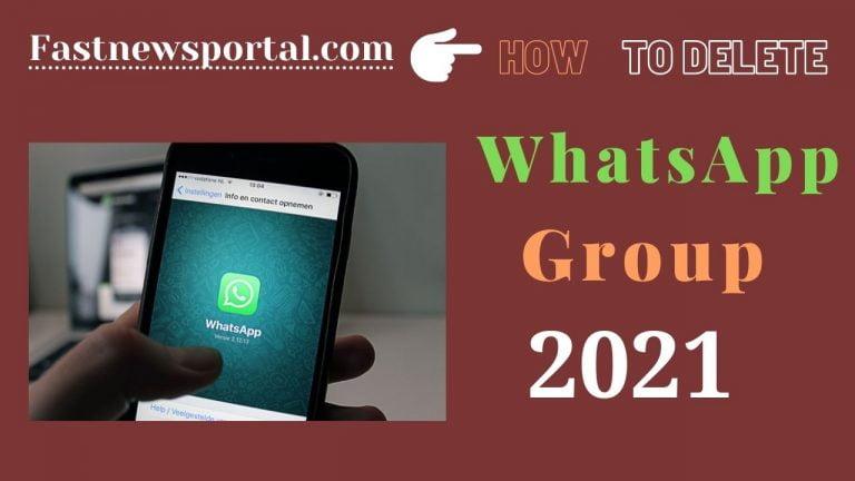 delete WhatsApp Group