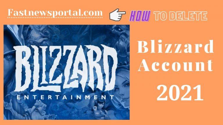 Delete Blizzard Account